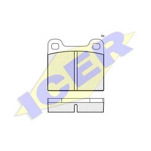 ICER 180162 Комплект тормозных колодок, дисковый тормоз Опель Кадет