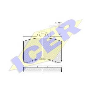 ICER 180175 Комплект тормозных колодок, дисковый тормоз Ситроен Cx