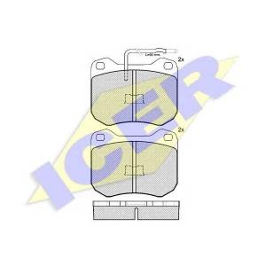 ICER 180198 Комплект тормозных колодок, дисковый тормоз