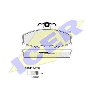 Комплект тормозных колодок, дисковый тормоз 180413700 icer - FORD SIERRA Наклонная задняя часть (GBC) Наклонная задняя часть 1.6