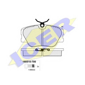 Комплект тормозных колодок, дисковый тормоз 180510700 icer - MERCEDES-BENZ 190 (W201) седан E 2.3-16