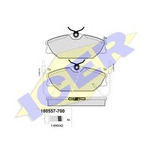 Комплект тормозных колодок, дисковый тормоз 180557700 icer - RENAULT SUPER 5 (B/C40_) Наклонная задняя часть 1.7 i (C409)