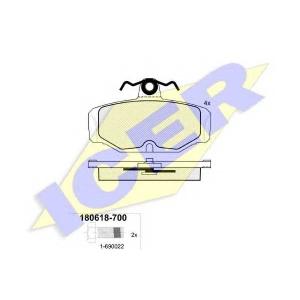 Комплект тормозных колодок, дисковый тормоз 180618700 icer - FORD SIERRA Наклонная задняя часть (GBC, GBG) Наклонная задняя часть 1.6
