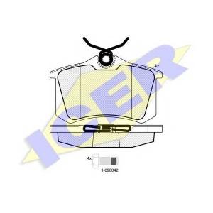 ICER 180697700 Тормозные колодки дисковые