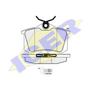 ICER 180697703 Тормозные колодки дисковые