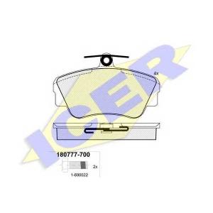 Комплект тормозных колодок, дисковый тормоз 180777700 icer - VOLVO 480 E купе 1.7