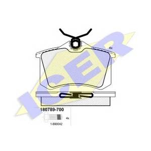 ICER 180789700 Тормозные колодки дисковые