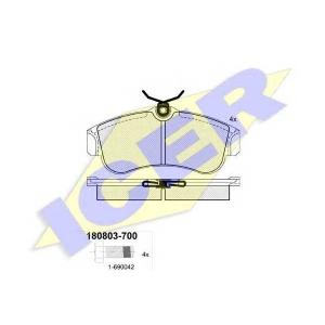 Комплект тормозных колодок, дисковый тормоз 180803700 icer - NISSAN PRIMERA (P10) седан 2.0 16V