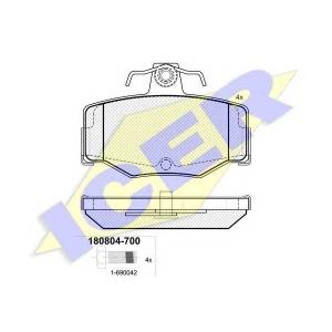 ICER 180804700 Тормозные колодки дисковые