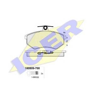ICER 180809700 Тормозные колодки дисковые