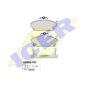 ICER 180860701 Тормозные колодки дисковые