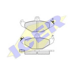 ICER 180874 Комплект тормозных колодок, дисковый тормоз Крайслер Випер