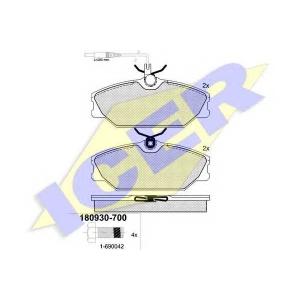 ICER 180930700 Тормозные колодки дисковые