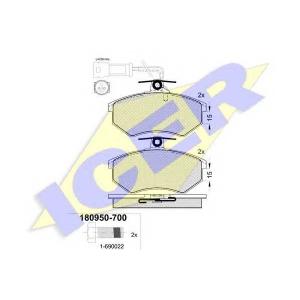 �������� ��������� �������, �������� ������ 180950700 icer - AUDI 80 (81, 85, B2) ����� 1.8 GTE quattro (85Q)