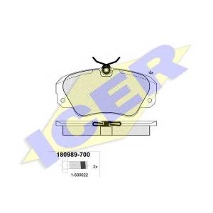 ICER 180989700 Тормозные колодки дисковые
