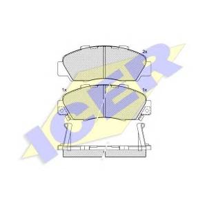 ICER 181019 Комплект тормозных колодок, дисковый тормоз Акура Нсх