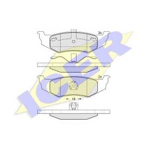 ICER 181114 Комплект тормозных колодок, дисковый тормоз Крайслер Конкорд