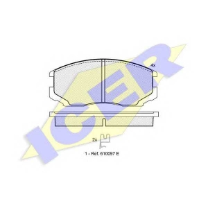 ICER 181129 Комплект тормозных колодок, дисковый тормоз Дайхатсу Астраи