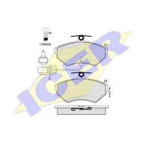 ICER 181157203 Тормозные колодки дисковые