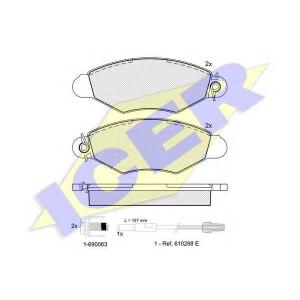 ICER 181217203 Комплект тормозных колодок, дисковый тормоз