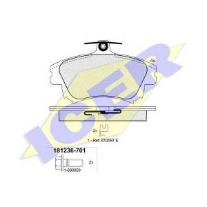 ICER 181236701 Тормозные колодки дисковые