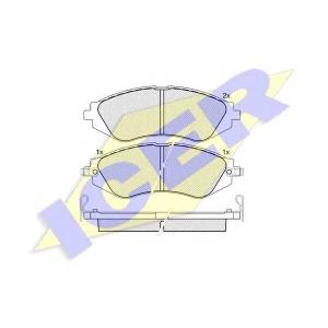 ICER 181263 Комплект тормозных колодок, дисковый тормоз