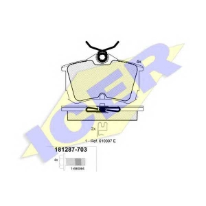 ICER 181287703 Тормозные колодки дисковые