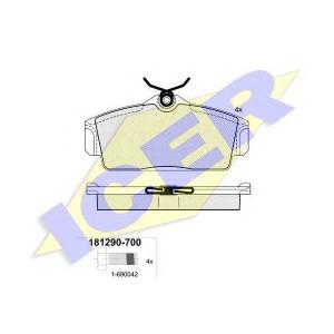 ICER 181290700 Тормозные колодки дисковые