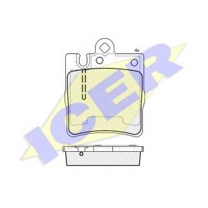 ICER 181312202 Тормозные колодки дисковые