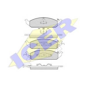 ICER 181339 Комплект тормозных колодок, дисковый тормоз Крайслер Сайрус