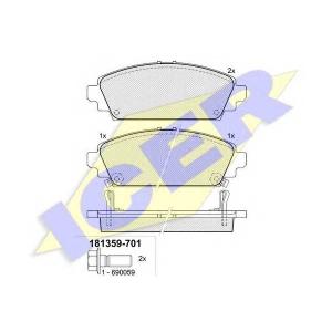 ICER 181359701 Комплект тормозных колодок, дисковый тормоз