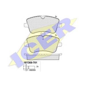Комплект тормозных колодок, дисковый тормоз 181369701 icer - MERCEDES-BENZ C-CLASS T-Model (S203) универсал C 220 CDI