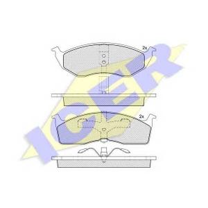 ICER 181377 Комплект тормозных колодок, дисковый тормоз Крайслер Нью Йоркер