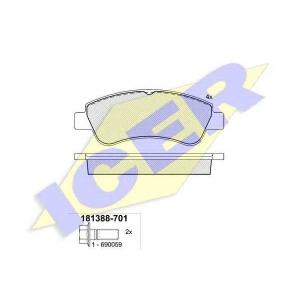 ICER 181388701 Тормозные колодки дисковые