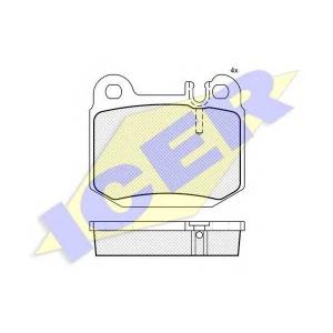 Комплект тормозных колодок, дисковый тормоз 181391 icer - MERCEDES-BENZ M-CLASS (W163) вездеход закрытый ML 320 (163.154)