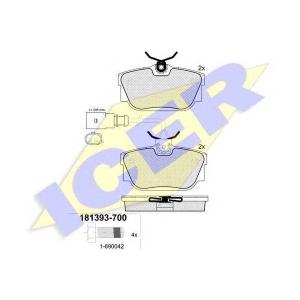 ICER 181393700 Тормозные колодки дисковые