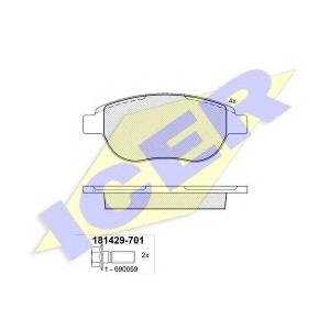 ICER 181429701 Тормозные колодки дисковые