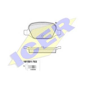 ICER 181501703 Комплект тормозных колодок, дисковый тормоз
