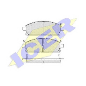 ICER 181521 Комплект тормозных колодок, дисковый тормоз Инфинити Кью-Икс 4