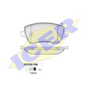 ICER 181534700 Тормозные колодки дисковые