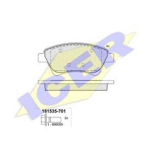 ICER 181535701 Тормозные колодки дисковые