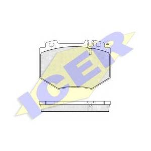 Комплект тормозных колодок, дисковый тормоз 181538 icer - MERCEDES-BENZ S-CLASS (W220) седан S 600 (220.878, 220.178)