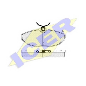 ICER 181546 Комплект тормозных колодок, дисковый тормоз