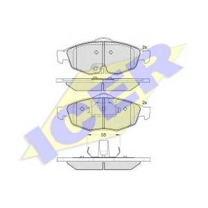 ICER 181559 Комплект тормозных колодок, дисковый тормоз Крайслер Сайрус