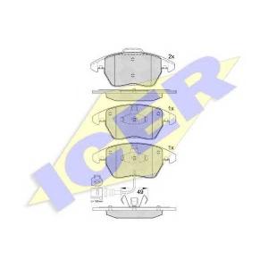 Комплект тормозных колодок, дисковый тормоз 181567 icer - SKODA OCTAVIA Combi (1Z5) универсал 2.0 TDI 4x4