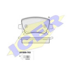 ICER 181600703 Тормозные колодки дисковые