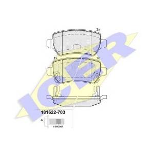 ICER 181622703 Тормозные колодки дисковые