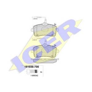 ICER 181656700 Тормозные колодки дисковые
