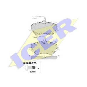 Комплект тормозных колодок, дисковый тормоз 181657700 icer - CITRO?N C5 (RD_) седан 2.2 HDi 200