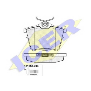 ICER 181658703 Тормозные колодки дисковые